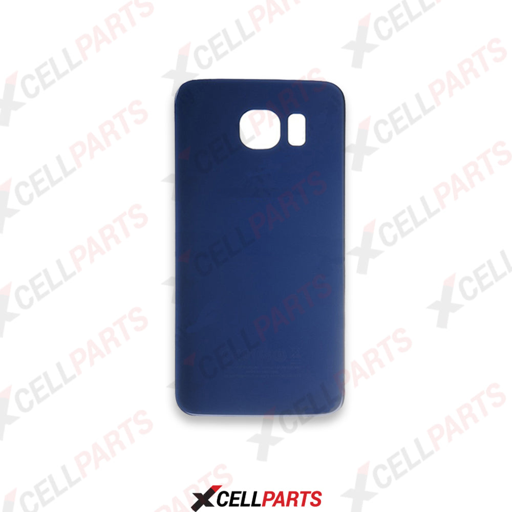 Glass Back Door For Samsung Galaxy S6 Edge Plus (Blue)