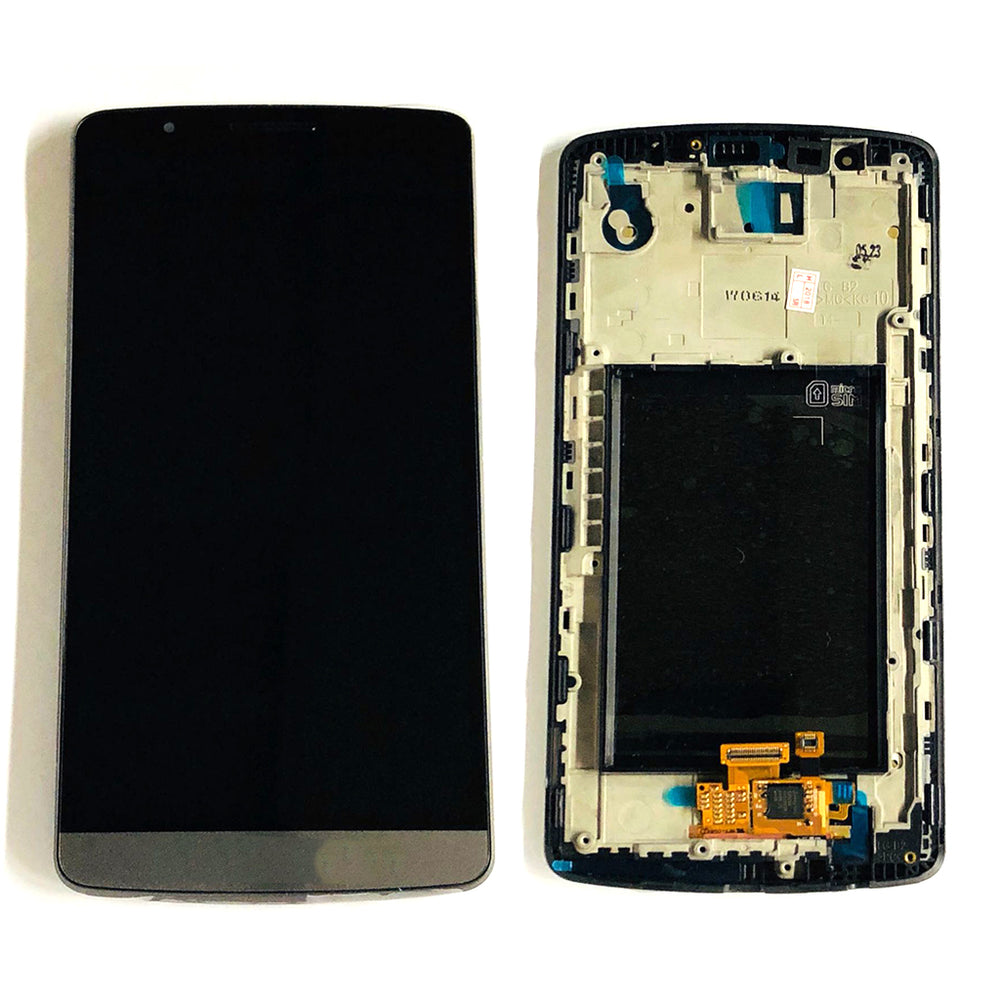 LCD Screen Touch Digitizer With Frame For LG G3 (Black)