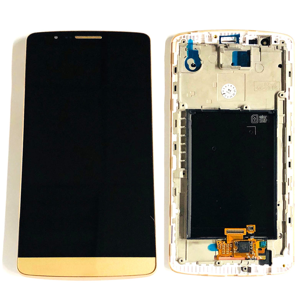 LCD Screen Touch Digitizer With Frame For LG G3 (Gold)
