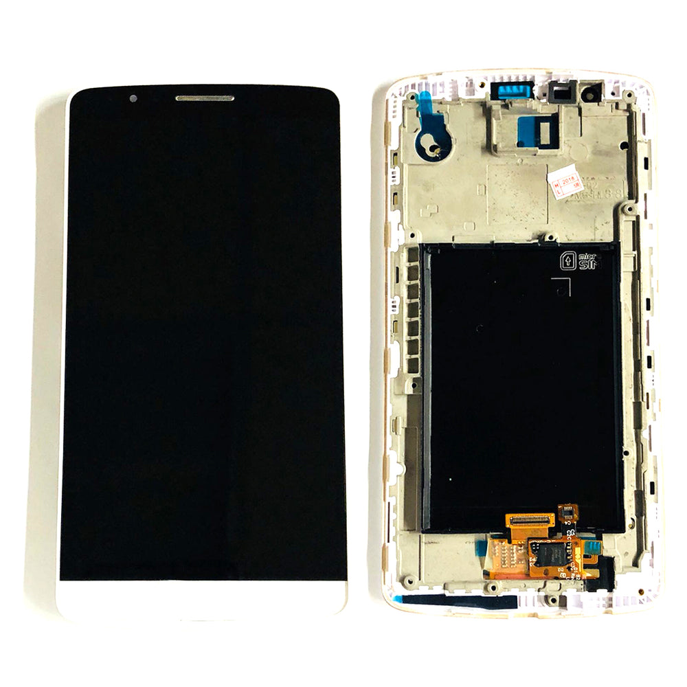 LCD Screen Touch DigitizeR With Frame For LG G3 (White)