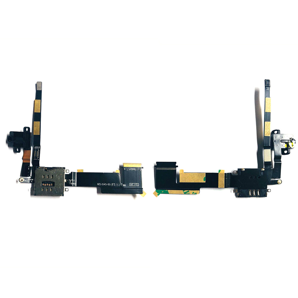 Audio Jack With Sim Reader Flex Cable For Ipad 2