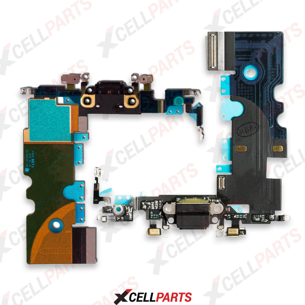 Charging Port Flex Cable For Iphone 8 (Black)