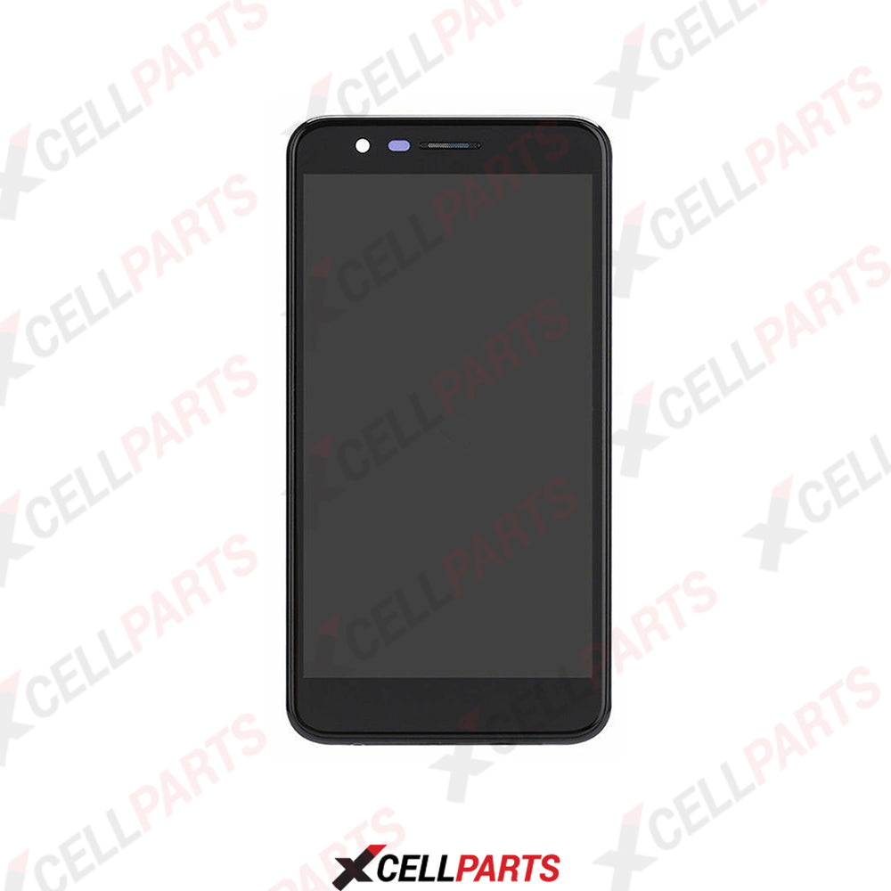 LCD Screen Touch Digitizer With Frame For Lg K10 (2018) / K30 (Black)