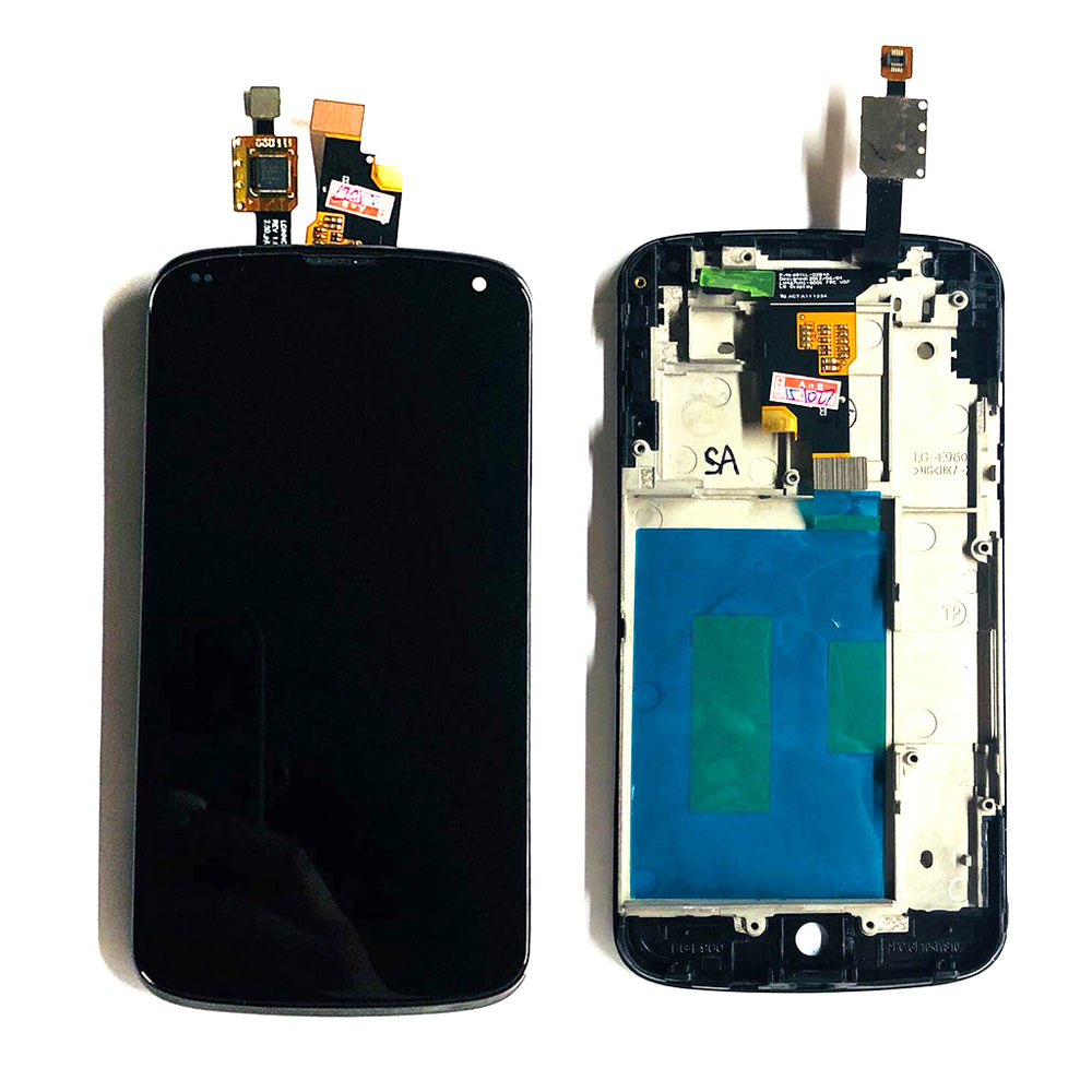 LCD Screen Touch Digitizer With Frame For LG Nexus 4 (E960)