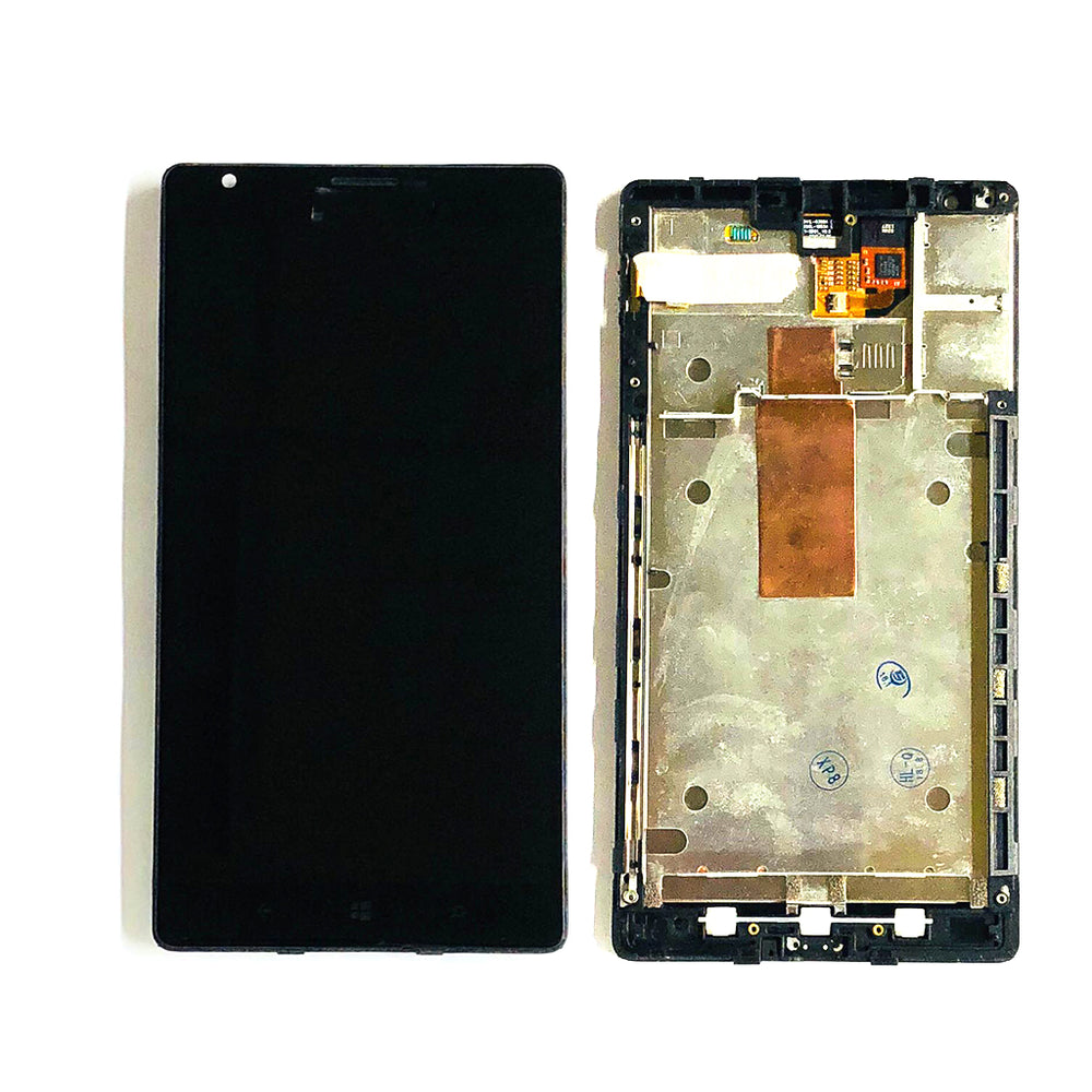 LCD Screen Touch Digitizer With Frame For Nokia Lumia 1520 (Black)