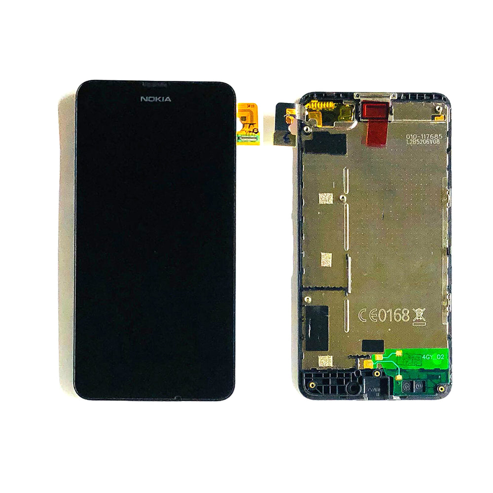 LCD Screen Touch Digitizer With Frame For Nokia Lumia 635 (Black)
