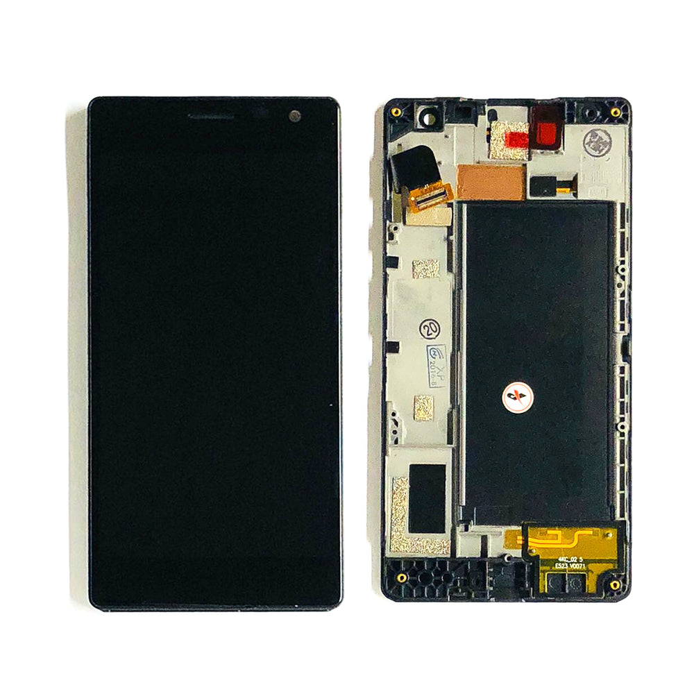 LCD Screen Touch Digitizer With Frame For Nokia Lumia 735 (Black)