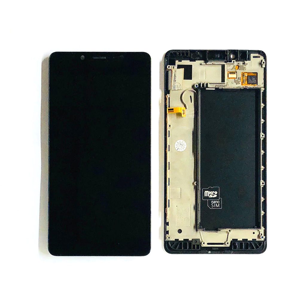 LCD Screen Touch Digitizer With Frame For Nokia Lumia 950 (Black)