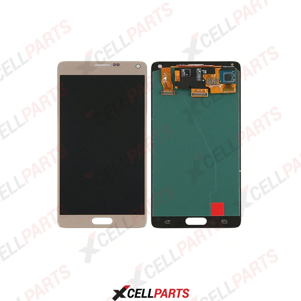 LCD Screen Touch Digitizer With Out Frame For Samaung Galaxy Note 4 (Gold)