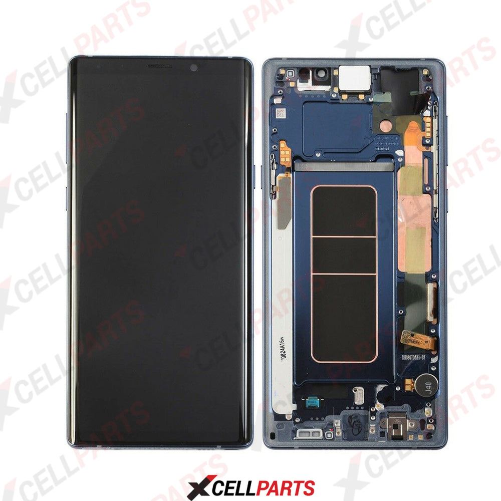 Samsung Galaxy Note 9 LCD Screen Touch Digitizer + Frame (Service pack) (Blue)