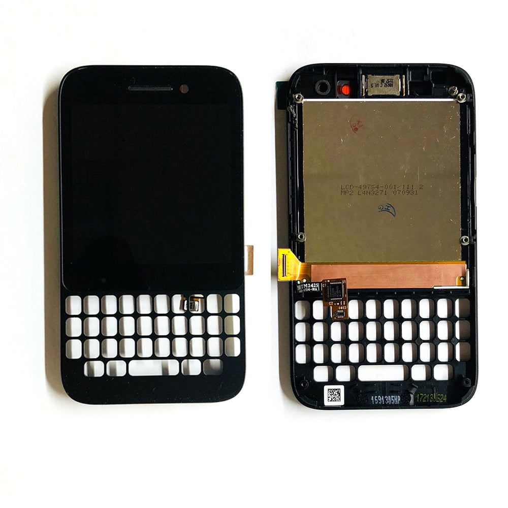 LCD Screen Touch Digitizer With Frame For Black Berry Q5 (Black)