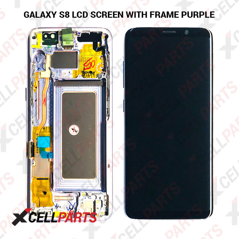 LCD Assembly With Frame For Samsung Galaxy S8 (Premium) (Grey / Violet Frame)
