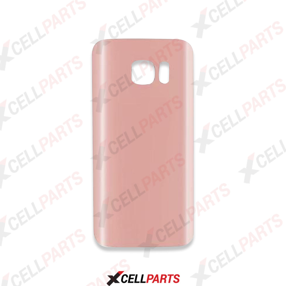 Back Cover Glass With Camera Lens For Samsung Galaxy S7 (Pink)