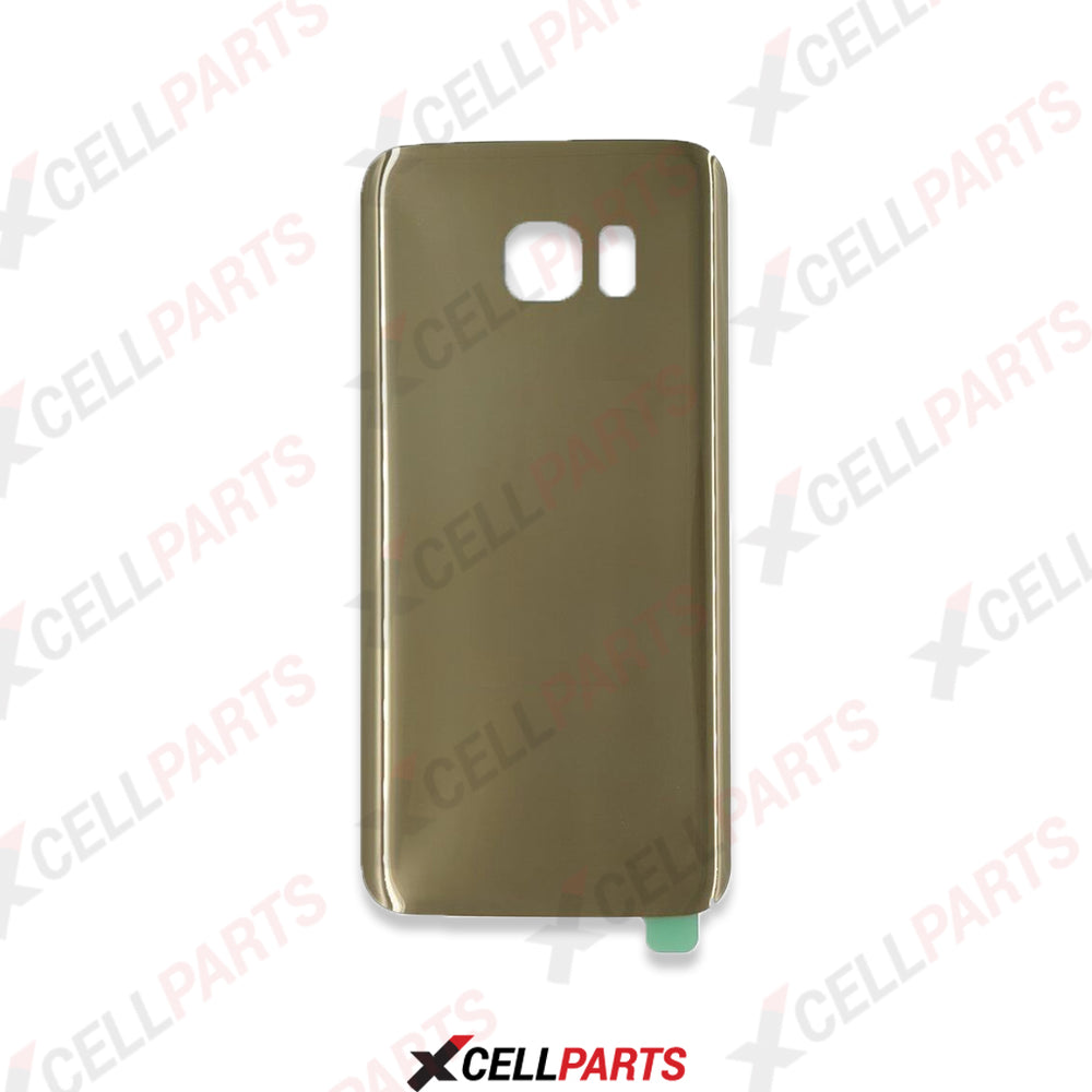 Back Cover Glass With Camera Lens For Samsung Galaxy S7 (Gold Platinum)
