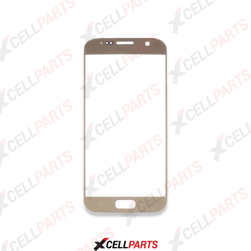 Front Screen Glass Lens For Samsung Galaxy S7 (Gold)