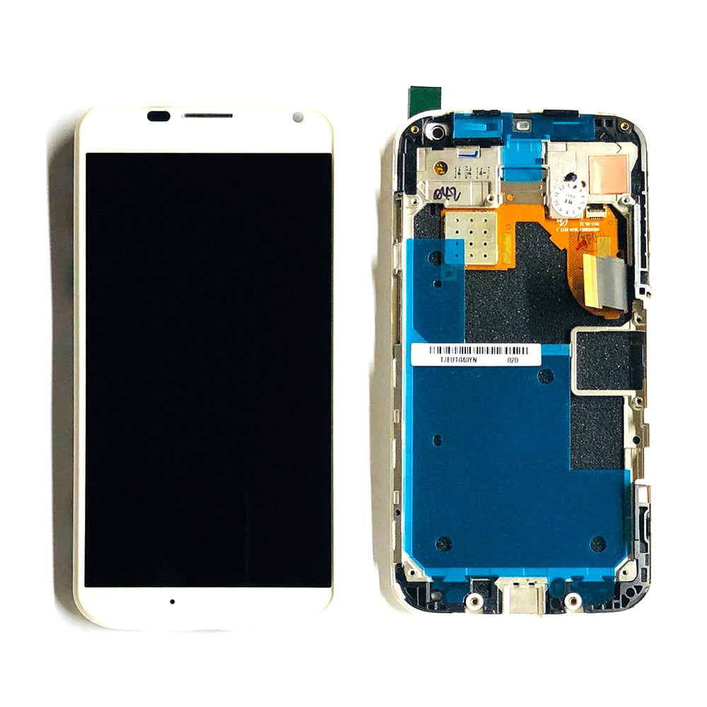 LCD Screen Touch Digitizer With Frame For Moto X (XT1058) (White)