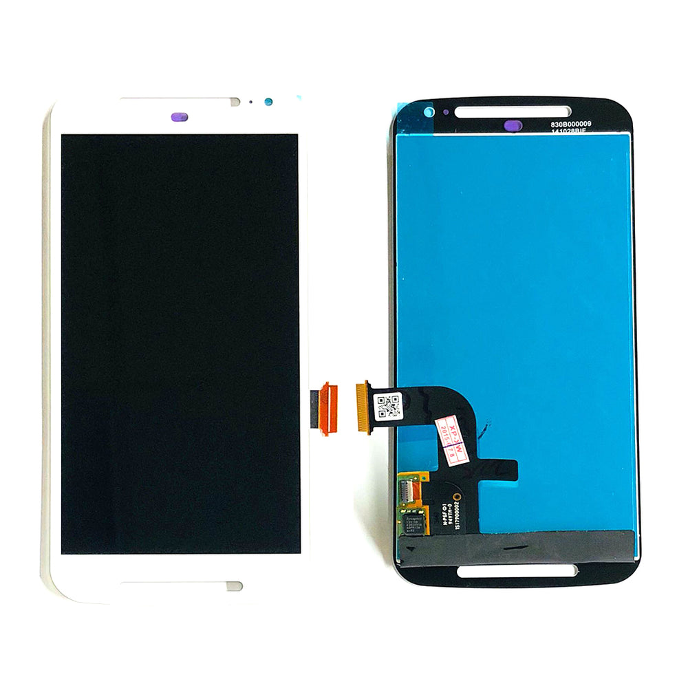 LCD Screen Touch Digitizer With Out Frame For Moto G2 (XT1063) (White)