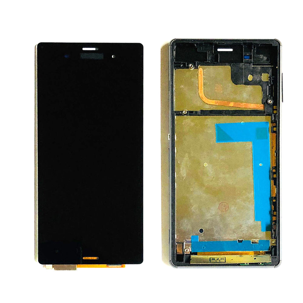 LCD Screen Touch Digitizer With Frame For Sony Xperia Z3 (D6603-43-53) (Black)