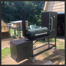 Load image into Gallery viewer, 20″x66″ Custom Built reverse flow smoker