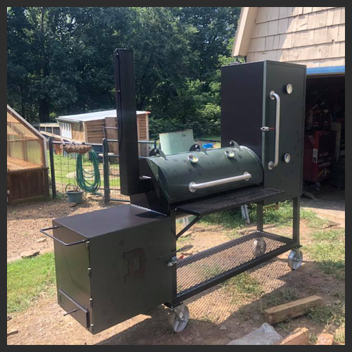 20″x66″ Custom Built reverse flow smoker