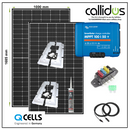 Qcell 640 watt panel & Smart MPPT, Cable, Mounting & Gland kit 7