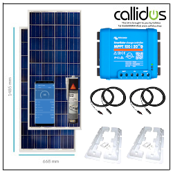 350 watt Solar kit, with Victron 100/20 smart MPPT, Cable, Mounting & Gland Kit 13