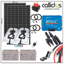 Qcell 660 watt panel, 220 Ah AGM battery & Smart MPPT, Cable, Mounting & Gland kit 3