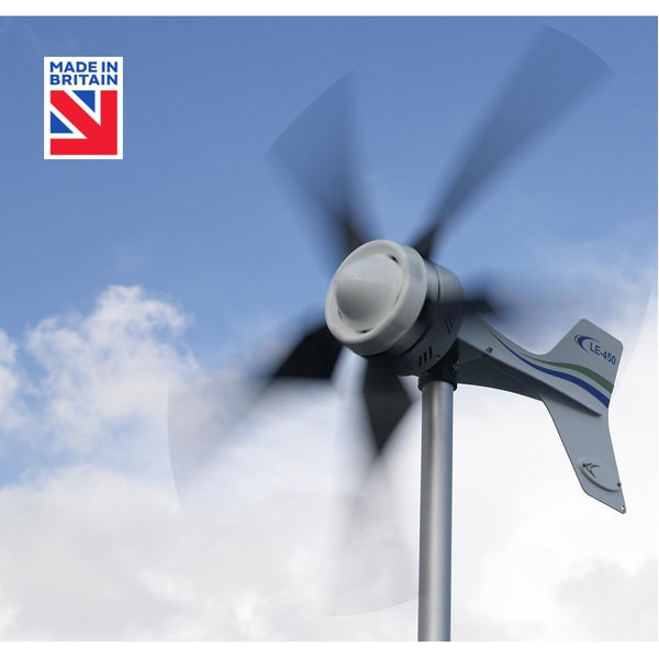 LE-450 Wind Turbine (12/24/48V) Delivers real power in everyday winds