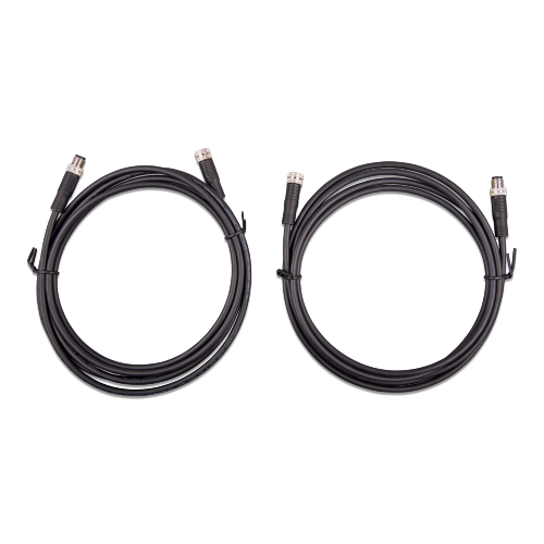 M8 circular connector Male/Female 3 pole cable 2m (bag of 2)