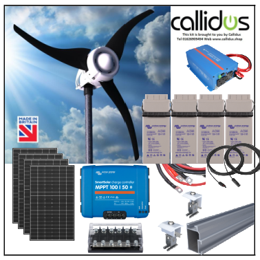 Solar 1.3kw and up to 750 watt wind turbine, 1kw inverter kit