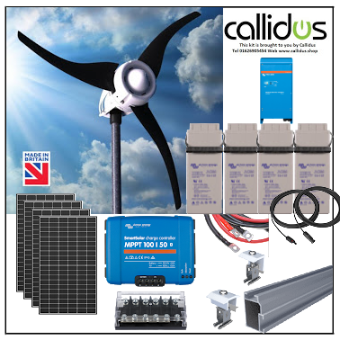 Solar 1.3kw and up to 750 watt wind turbine, 1.6kw inverter kit