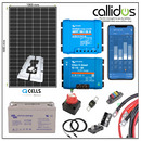 Qcell 320 watt panel, Victron 110 Ah AGM battery & Smart MPPT & Smart DC/DC charger  , Cable, Mounting & Gland Kit 56