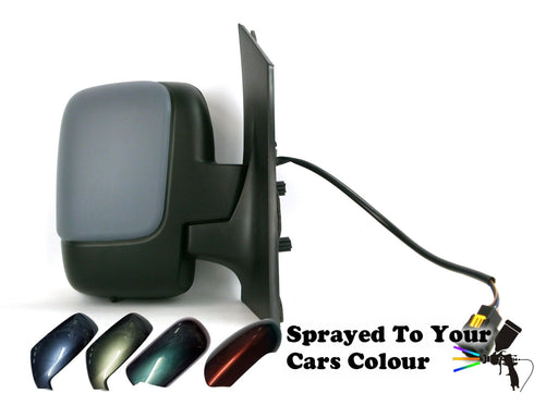 Peugeot Expert Mk2 2007+ Single Glass Wing Mirror Electric Drivers Side Painted Sprayed