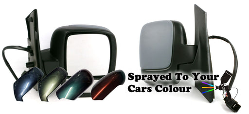 Peugeot Expert Mk2 2007+ Twin Glass Wing Mirror Powered Drivers Side O/S Painted Sprayed