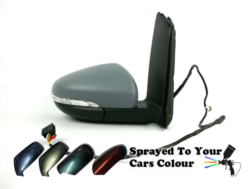 VW Touran Mk2 9/2010-2015 Wing Mirror Power Folding Drivers Side O/S Painted Sprayed