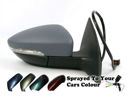VW CC 2011+ Electric Wing Mirror Indicator Puddle Lamp Drivers Side O/S Painted Sprayed