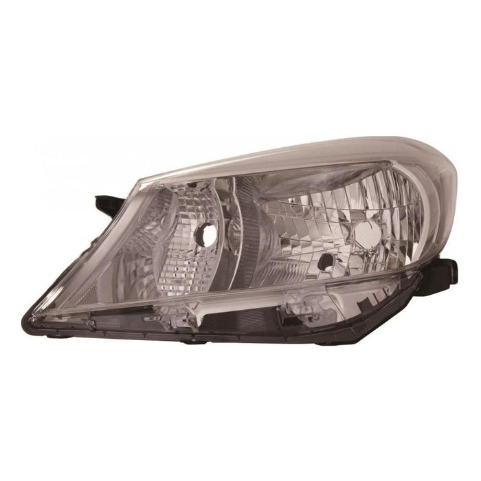 Toyota Yaris Mk3 Hatch 7/2011-11/2014 Black Trim Headlight Passenger Side N/S