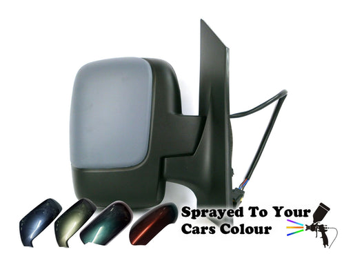 Peugeot Expert Mk2 2007+ Twin Glass Wing Mirror Electric Driver Side O/S Painted Sprayed