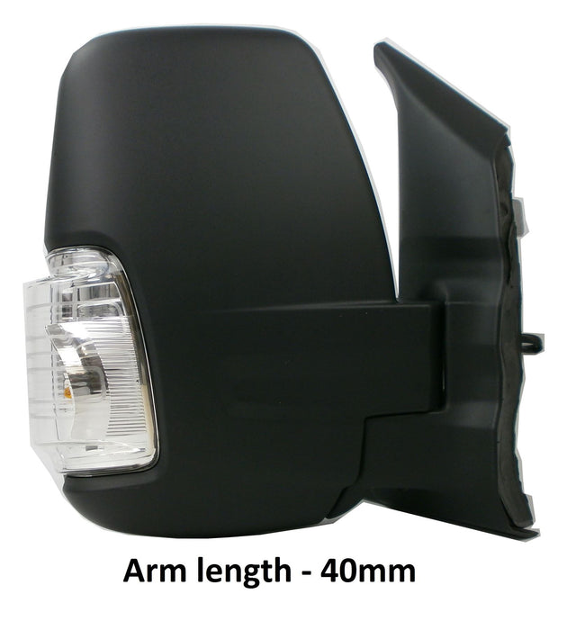 Ford Transit Mk8 (V363) 3/2014+ Short Arm Wing Mirror Power Folding Drivers Side