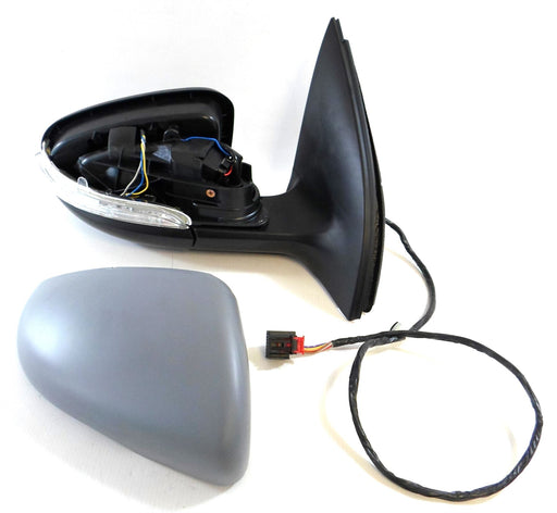 VW Golf Mk6 1/2009-6/2013 Wing Mirror Power Folding Indicator Drivers Side O/S