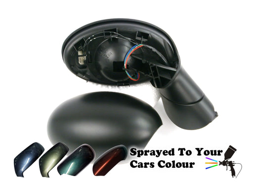 Mini Cabrio (R52) Mk.1 2001-2006 Electric Wing Mirror Drivers Side O/S Painted Sprayed
