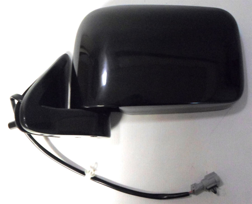 Nissan D22 Pick-Up 2001-2006 Electric Wing Mirror Polished Black Passenger Side