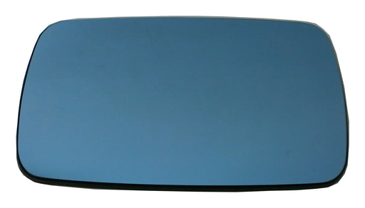 BMW 5 Series (E34) 1991-2000 Heated Convex Blue Tinted Mirror Glass Passengers Side N/S