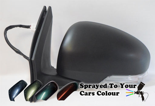 Toyota iQ 2009+ Electric Wing Mirror Heated Indicator Passenger Side N/S Painted Sprayed
