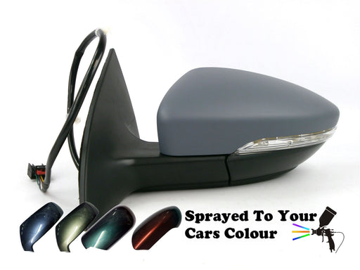 VW CC 2011+ Electric Wing Mirror Heated Puddle Lamp Passenger Side N/S Painted Sprayed