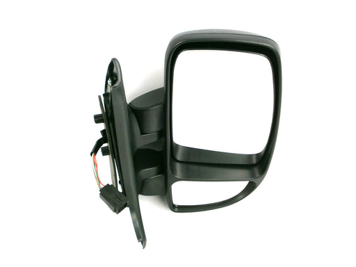 Renault Master 10/2003-2010 Short Arm Wing Mirror Electric Black Drivers Side