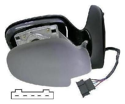 Volkswagen Sharan Mk.1 1995-5/2000 Electric Wing Mirror Primed Drivers Side O/S