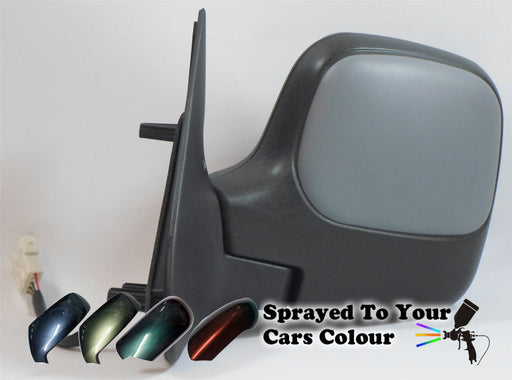 Peugeot Partner Mk.1 2009-2011 Electric Wing Mirror Passenger Side N/S Painted Sprayed