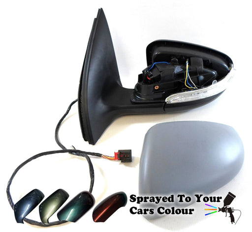 VW Golf Mk6 1/2009-6/2013 Wing Mirror Power Folding Passenger Side N/S Painted Sprayed