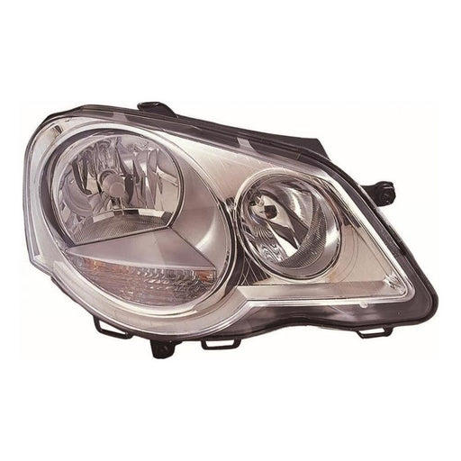 Volkswagen Polo Mk4 9N3 Hatch 6/2005-3/2010 Headlight Headlamp Drivers Side O/S